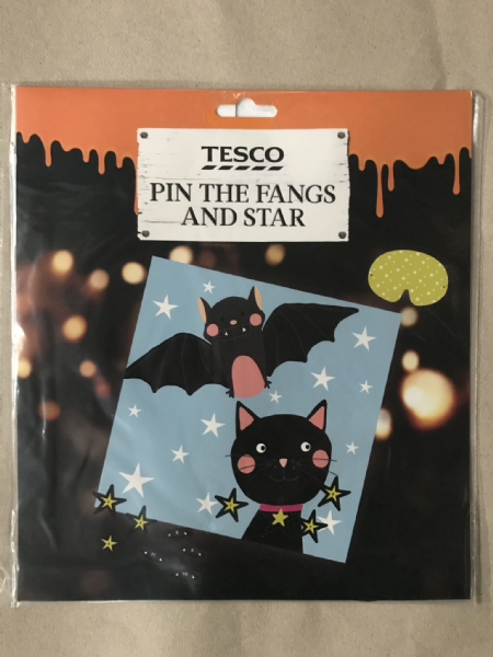 Tesco Pin the fangs and Star